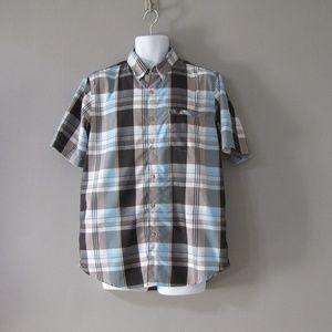 Chaps Nylon Blend Hiking Shirt Plaid Size M